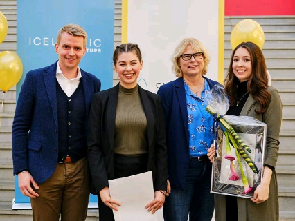 GreenBytes won the sustainability award at the Gulleggið startup competition on Friday. All of the groups that participated had amazing ideas and we wish them success going forward with their startups.